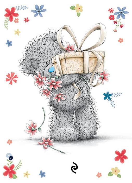 открытки с мишками тедди с днем рожденья