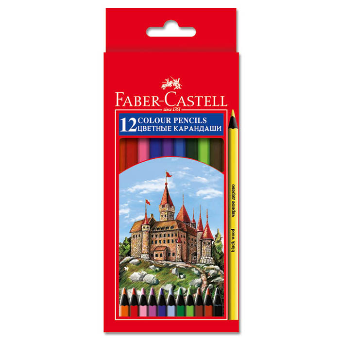 Faber castell цветные карандаши 12 цветов